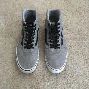 Vans Gray Hitop Sneakers Mens SZ 13